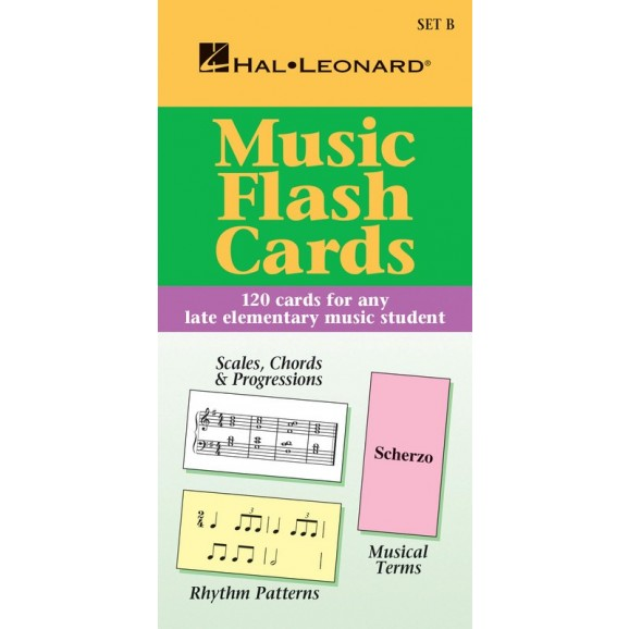 Music Flash Cards - Set B -  Various Authors   (Piano) Hal Leonard Student Piano Library - Hal Leonard. Flash Cards Book